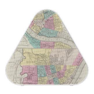The Cities Of Pittsburgh Allegheny Cincinnati Bluetooth Speaker