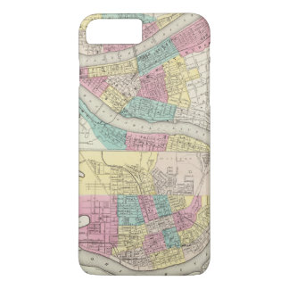 The Cities Of Pittsburgh Allegheny Cincinnati iPhone 8 Plus/7 Plus Case