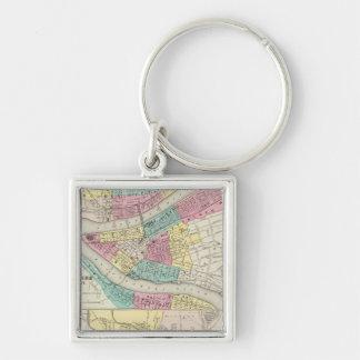 The Cities Of Pittsburgh Allegheny Cincinnati Keychain