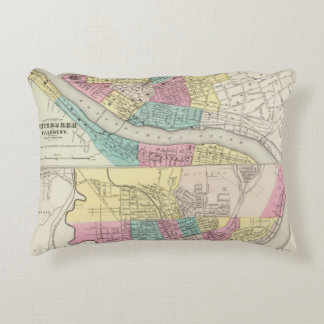 The Cities Of Pittsburgh Allegheny Cincinnati Accent Pillow