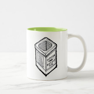 """The Citizen's Biscuit Tin"" Two-Tone Coffee Mug"