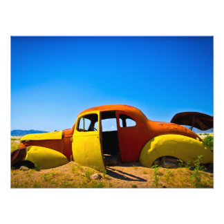 The Citrus Car a Vintage 1936 Hudson Orange Yello Photo Print