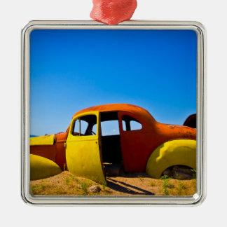 The Citrus Car a Vintage 1936 Hudson Orange Yellow Metal Ornament