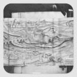 The city and the village of Carcassonne, 1462 Square Stickers