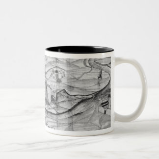 The city and the village of Carcassonne, 1462 Two-Tone Coffee Mug