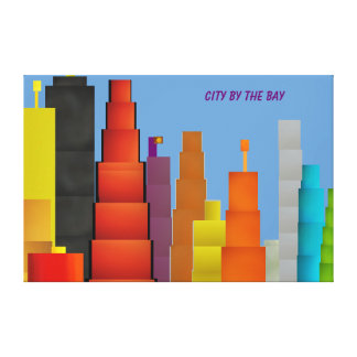 The City By The Bay Stretched Canvas Print