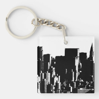 The City Double-Sided Square Acrylic Keychain