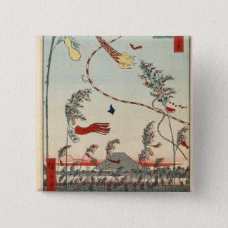 The City Flourishing, Tanabata Festival. Pinback Button
