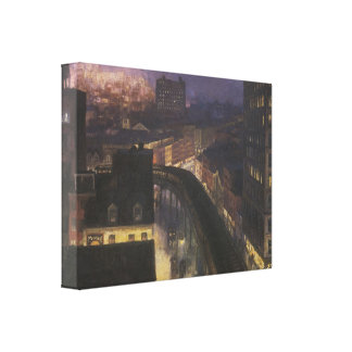 The City from Greenwich Village, 1922 Canvas Print