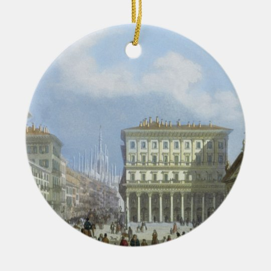 The City Hall and Piazza di San Carlo from 'Views Ceramic Ornament
