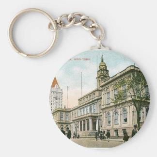"""The City Hall"" New York Keychain"