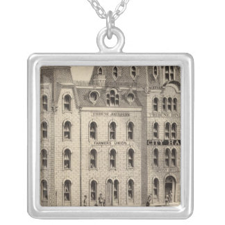The City Hall of Minneapolis, Minnesota Silver Plated Necklace