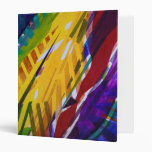 The City II - Abstract Rainbow Streams Vinyl Binders