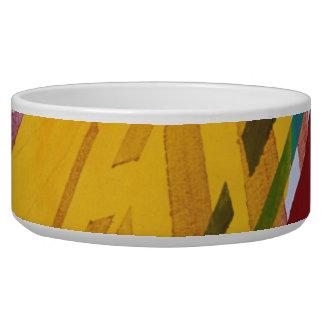 The City II - Abstract Rainbow Streams Bowl