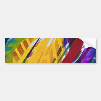 The City II - Abstract Rainbow Streams Bumper Sticker