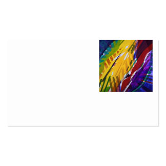 The City II - Abstract Rainbow Streams Business Card Templates