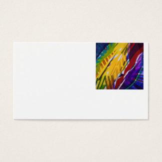 The City II - Abstract Rainbow Streams Business Card
