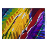 The City II - Abstract Rainbow Streams Greeting Cards