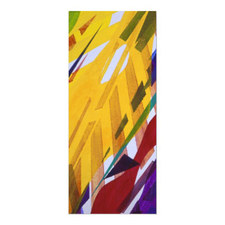 The City II - Abstract Rainbow Streams 4x9.25 Paper Invitation Card