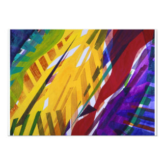 The City II - Abstract Rainbow Streams Personalized Invitation
