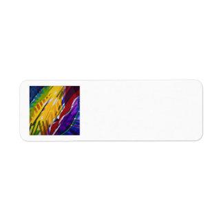 The City II - Abstract Rainbow Streams Label