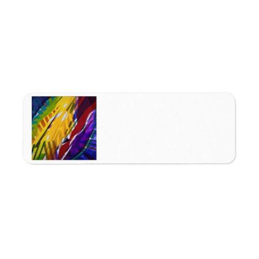 The City II - Abstract Rainbow Streams Custom Return Address Label