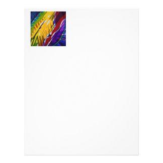 The City II - Abstract Rainbow Streams Letterhead