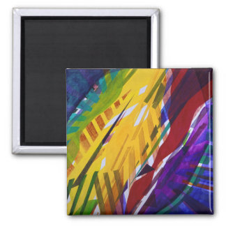 The City II - Abstract Rainbow Streams Magnet