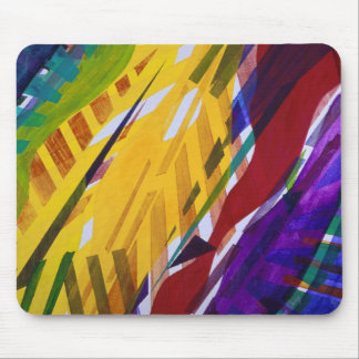 The City II - Abstract Rainbow Streams Mousepads