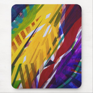 The City II - Abstract Rainbow Streams Mousepad