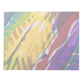 The City II - Abstract Rainbow Streams Notepad