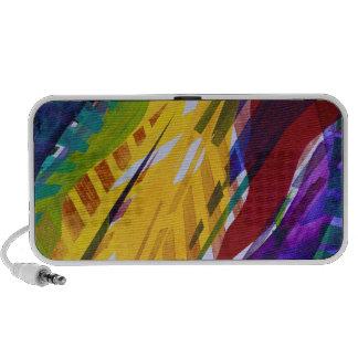 The City II - Abstract Rainbow Streams Portable Speaker
