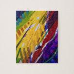 The City II - Abstract Rainbow Streams Jigsaw Puzzle