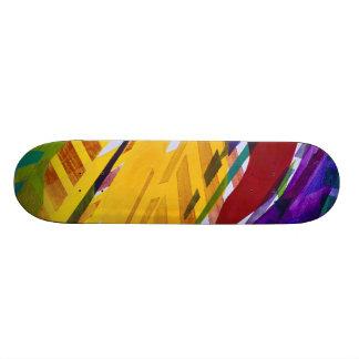 The City II - Abstract Rainbow Streams Skateboard