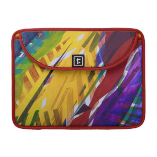 The City II - Abstract Rainbow Streams Sleeve For MacBook Pro