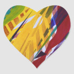The City II - Abstract Rainbow Streams Heart Stickers