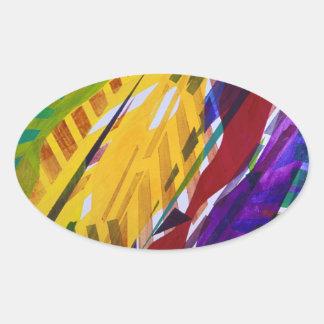 The City II - Abstract Rainbow Streams Sticker