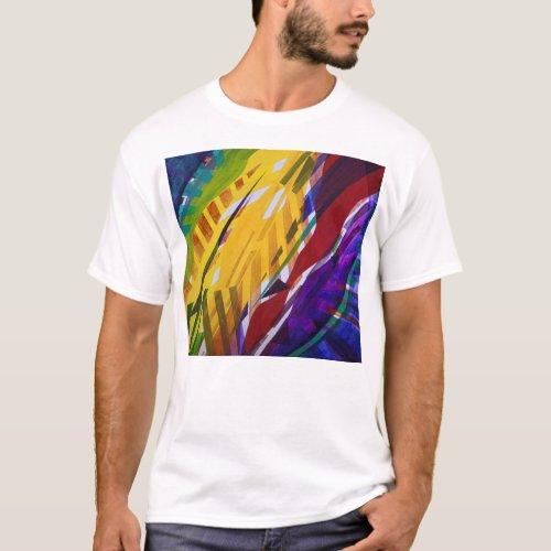 The City II, Abstract Rainbow Streams T-Shirt