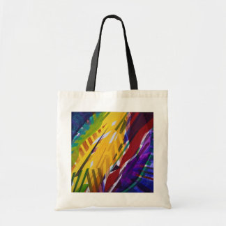 The City II - Abstract Rainbow Streams Tote Bag