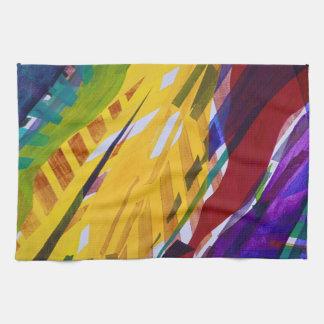 The City II - Abstract Rainbow Streams Towel