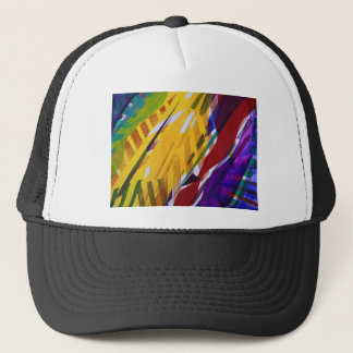 The City II - Abstract Rainbow Streams Trucker Hat