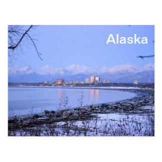 The city of Anchorage, Alaska Postcard
