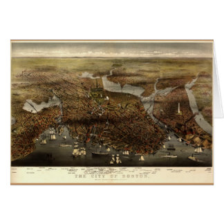 The city of Boston, 1873 Card