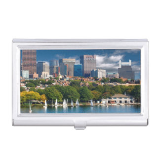 The city of Boston and Charles river Business Card Holder