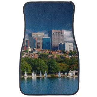 The city of Boston and Charles river Car Floor Mat