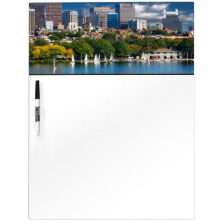 The city of Boston and Charles river Dry Erase Board