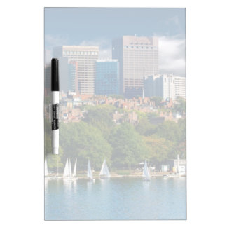 The city of Boston and Charles river Dry-Erase Board