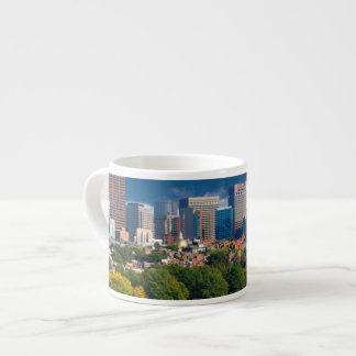 The city of Boston and Charles river Espresso Cup