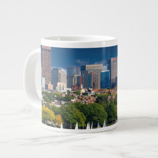 The city of Boston and Charles river Giant Coffee Mug