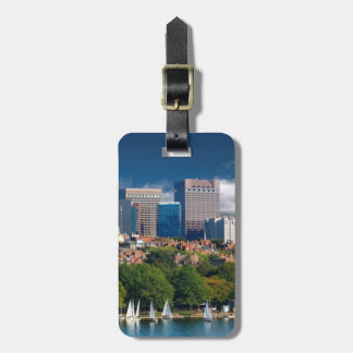 The city of Boston and Charles river Luggage Tag